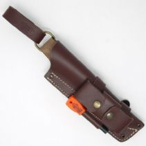 MK II TBS Leather Nordic Dangler Type Sheath with DC4 & Firesteel Attachment. - Regular